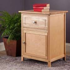 Natural Wood Nightstands Nightstands Bedroom Furniture The Home Depot