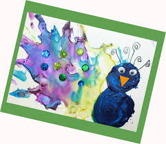 straw blown peacock painting u2013 the pinterested parent