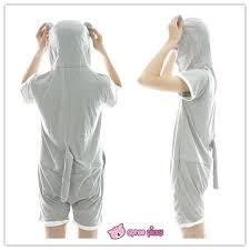 s xl unisex grey totoro summer jumpersuit nightwear pajamas