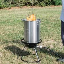 Backyard Accessories Pro Weekend Series 30 Qt Turkey Fryer Kit With Aluminum Stock Pot