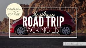 South Dakota travel checklist images North to south 39 s ultimate road trip planner packing list with jpg