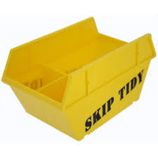 Office Desk Tidy Yellow Novelty Office Desktop Skip Tidy Stationery
