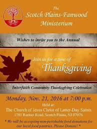 community interfaith thanksgiving service on mon nov 21 scotch