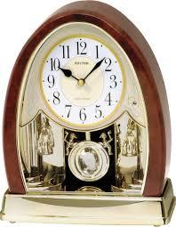 Mantel Clocks Joyful Crystal Bells Mantel Clock By Rhythm Holiday Chimes