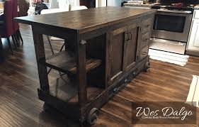 solid wood kitchen island cart custom crafted solid wood furniture wes dalgo