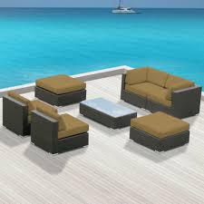Wicker Patio Sets Sofa Sets Modern Sofas Belizo Ceres 9 Pcs Wicker Patio Furniture