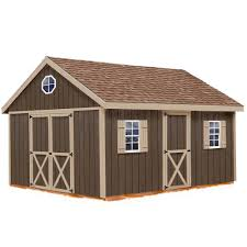 Backyard Shed Kits by Best Barns Millcreek 12 Ft X 16 Ft Wood Storage Shed Kit With