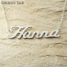 Customized Name Necklace Aliexpress Com Buy Gorgeous Tale Gold Custom Name Necklace