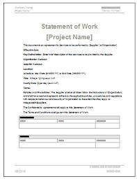 4 statement of work template word statement synonym