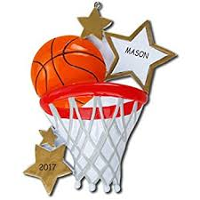basketball personalized ornament by polar x