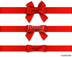 decorative bows decorative bow with horizontal ribbon isolated on white