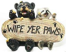 Mohawk Home Wipe Your Paws Wipe Your Paws Bear Ebay