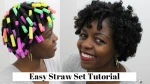 short straw set hairstyles straw set curls natural hair 3c 4a misst1806 youtube