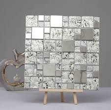 Metallic Tile Backsplash by Silver Glass Mosaic Tiles Ssmt240 Stainless Steel Tile Backsplash