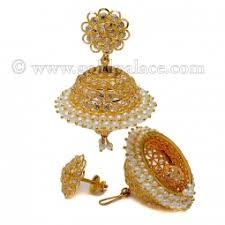 big jhumka gold earrings gold jumka earrings 22 k goldpalace