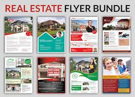 real estate flyer bundle templates flyer templates creative market