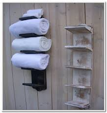 Bathroom Towel Shelves Wall Mounted Bathroom Towel Storage Wall Mounted Home Design Ideas