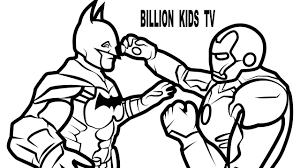 batman iron man coloring pages coloring book kids kids fun