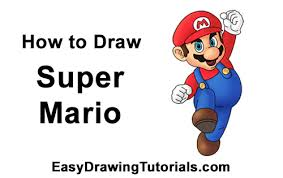 how to draw super mario full body