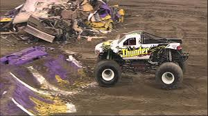 monster truck jam videos monster jam thunder 4x4 freestyle in indianapolis in january