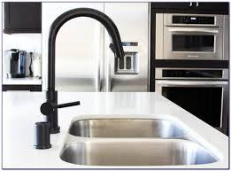 delta matte black kitchen faucet faucets home design ideas