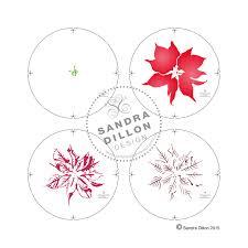 poinsettia multi colour stencil 1 sandra dillon design