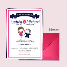 Create Marriage Invitation Card Free Cute Wedding Invitations Kawaiitheo Com