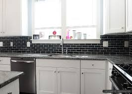 Black Slate Backsplash Tile New Caledonia Granite Backsplashcom - Black backsplash