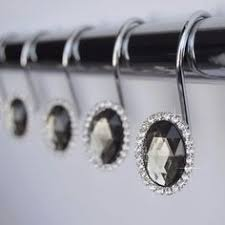 Decorative Curtain Hooks Shower Curtain Hooks That Sparkle Home Sweet Home Pinterest