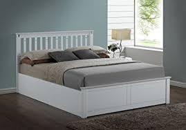 kensington white wooden storage ottoman double bed frame amazon