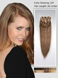 clip in human hair extensions 16 inch medium clip in human hair extensions 95g uss1016