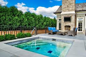 Backyard Design Ideas With Pools Outdoor Fascinating Small Inground Pools For Modern Backyard