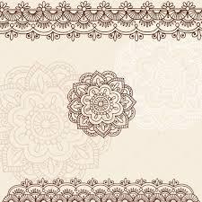 henna border tattoo designs flower tattoo borders pinterest