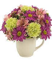 Smiley Flowers - yellow smiley mug flower bouquet at from you flowers