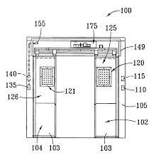 patent us6525659 automatic sliding door system for refrigerator