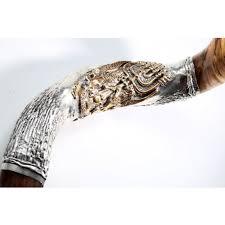 shofar store silver yemenite shofar lion of judah and menorah messiah of