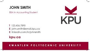 student business card how to order student business cards kpu ca kwantlen