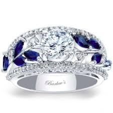vintage fashion rings images Barkev 39 s blue sapphire vintage wide floral diamond engagement ring jpg