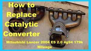 mitsubishi lancer fix catalytic converter replacement p0421 smog