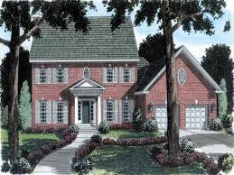house brick colonial house plans