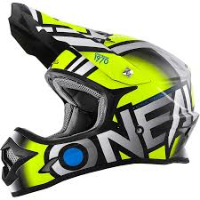 old motocross helmets oneal 2018 new mx 3 series radium dirt bike grey hi viz yellow