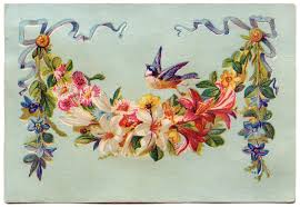floral garland clip floral garland with bird the graphics fairy