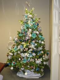 white christmas tree blue decorating ideas