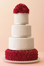 Big Wedding Cakes Red And White Wedding Cake Cake Ideas