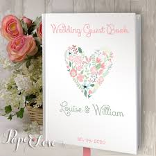 wedding guestbook beautiful wedding guest book personalised custom rustic wedding