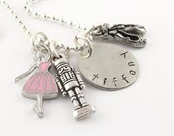 personalized charm necklaces ballet nutcracker silver charm necklace personalized