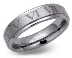 numeral ring tungsten carbide numerals ring tur24