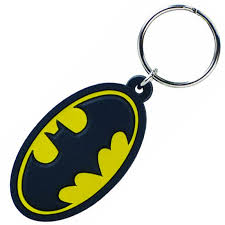 stupid batman color pvc keychain