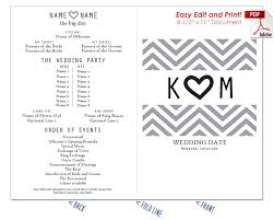 print at home wedding programs wedding fan templates 19 colors at crafty sticks