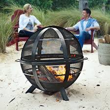 Landman Firepit Of Outdoor Pit With Cover At Brookstone Buy Now